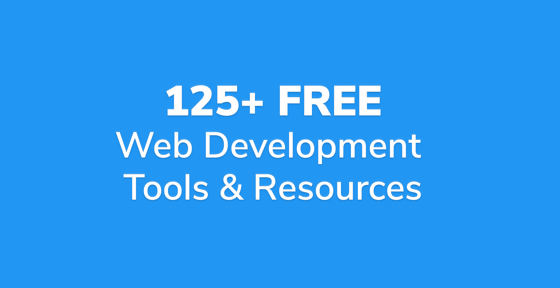 125+ Free Web Development Tools & Resources in 2018 | Code Wall