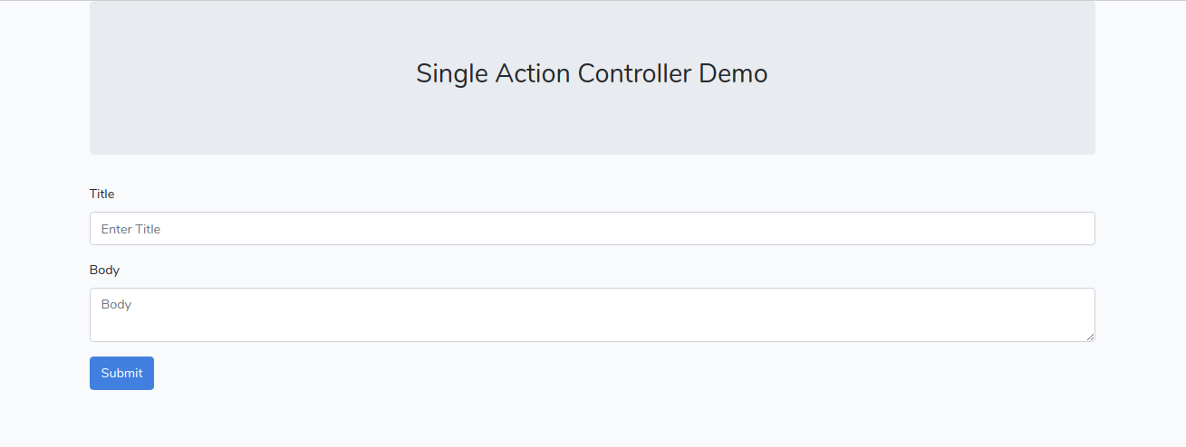 single action controller demo
