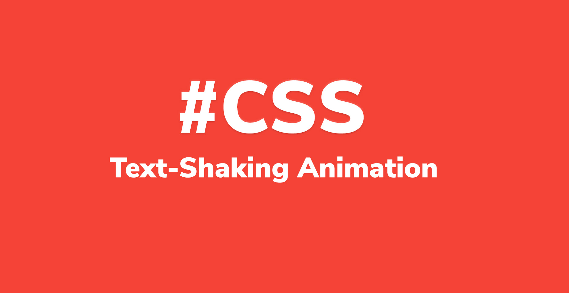 CSS Text-Shaking Animation Effect With Code | Code Wall