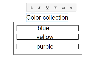 basic collection structure