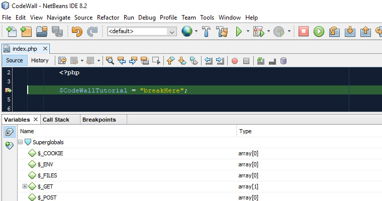 netbeans debugging example