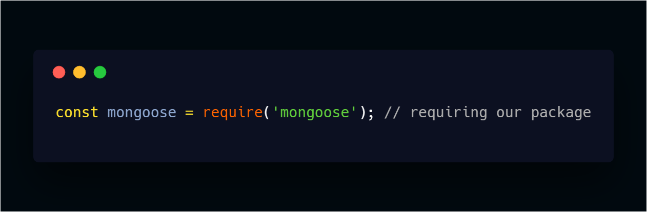 require mongoose package