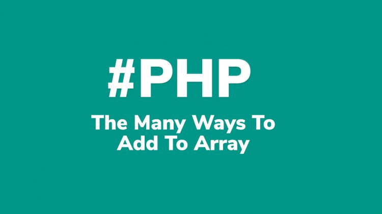 how to add to array php