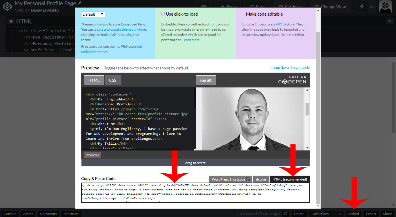 Creating A Personal Profile Page With Itty Bitty   Code Wall