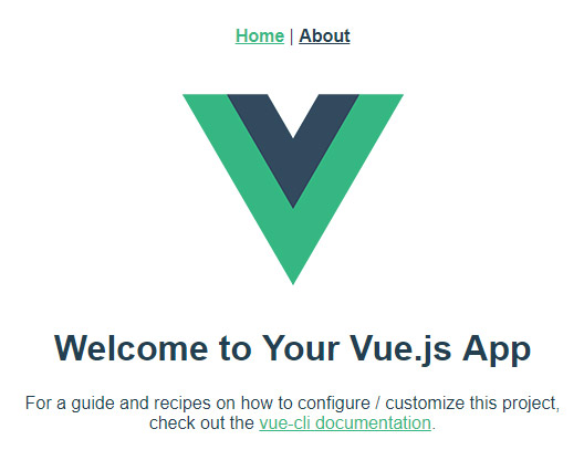 Default Vue Screen
