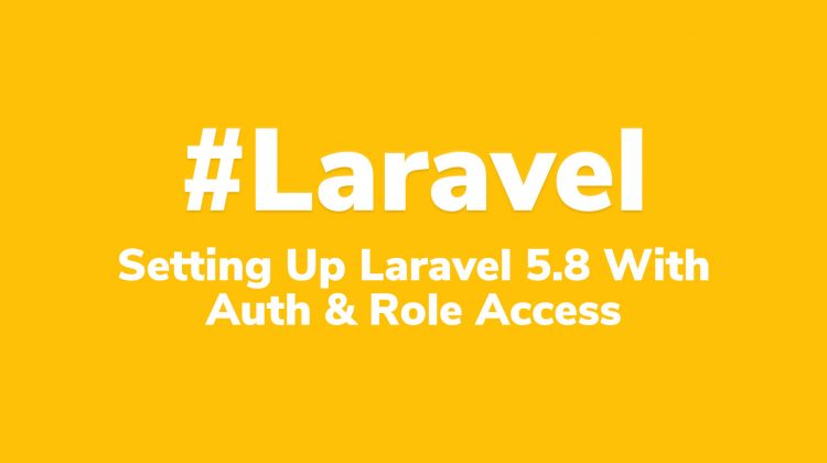 laravel 5.8 setup, authentication and role based access