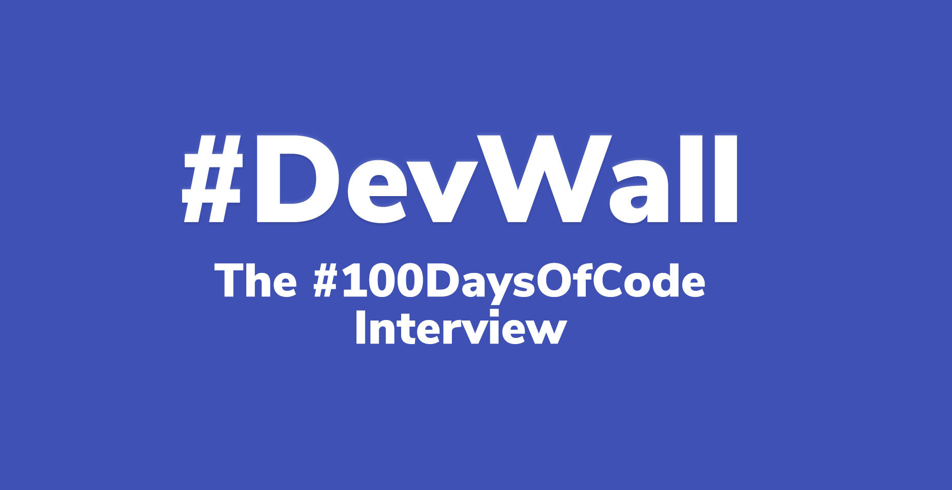 The #100DaysOfCode Interview | Code Wall