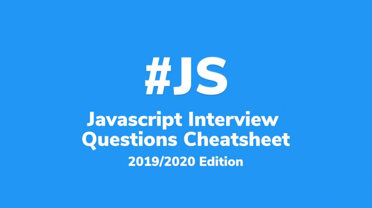 javascript interview questions cheat sheet
