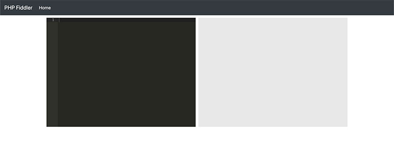 php fiddle editor and result pane