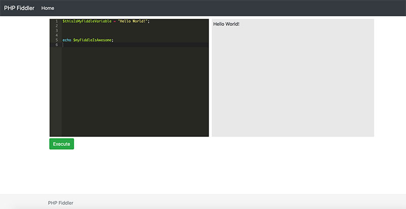 php fiddle tutorial