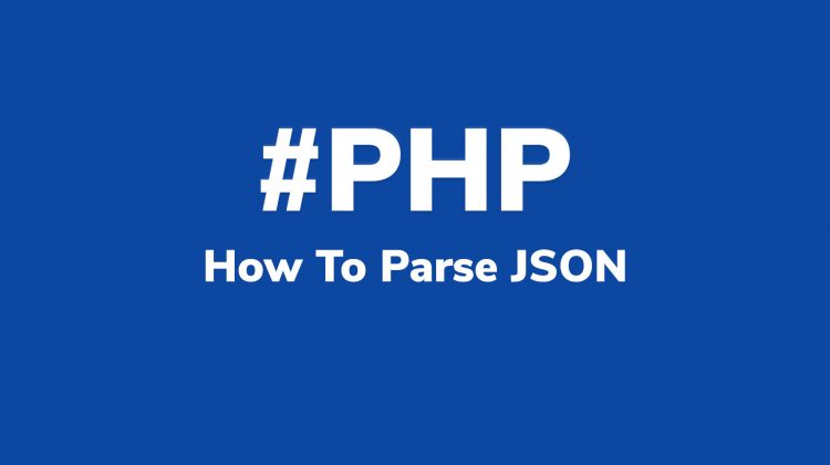 how to parse json php