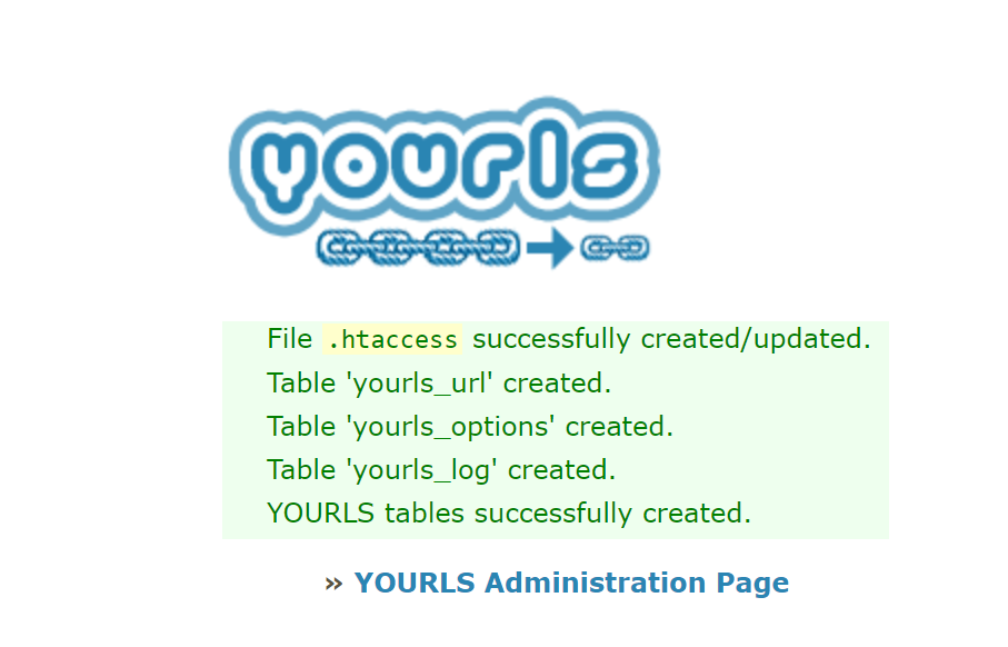 yourls install success